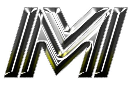 letra m: Siiver fuente ilustraci�n letra M