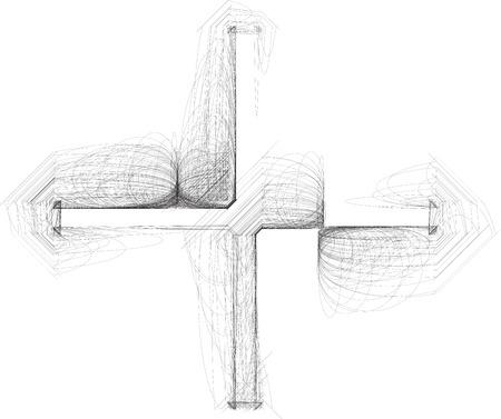 Hand drawn symbol Vector