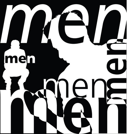 Men. Vector illustration Vector