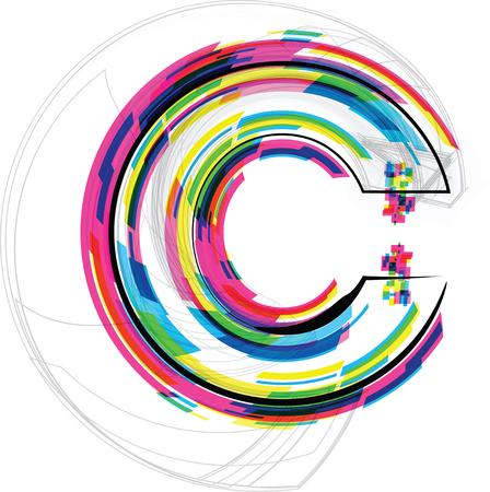 letter c: Font Illustration. LETTER C. Vector illustration Illustration