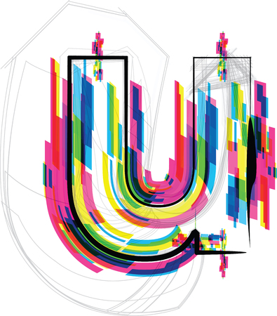 letter u: font Illustration. LETTER u. Vector illustration