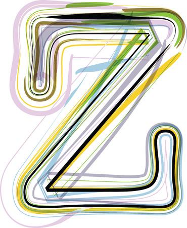 buchstabe z: Organic Font Illustration. Buchstabe Z