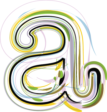 Organic Font illustration. Letter a Vector