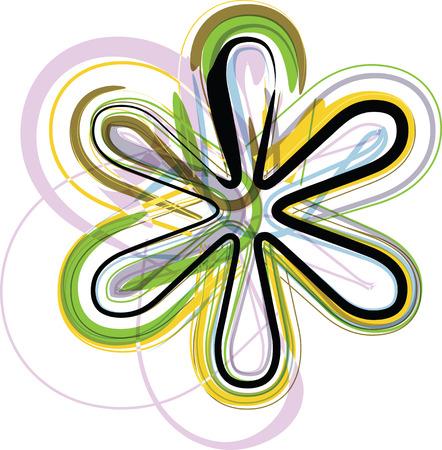 asterisk: Organic Font Symbol illustration Illustration