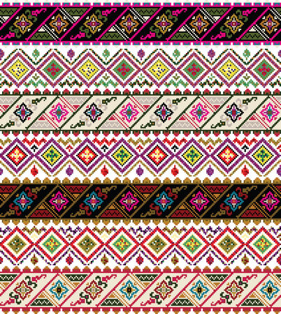 textil: ancient pattern  Vector illustration Illustration