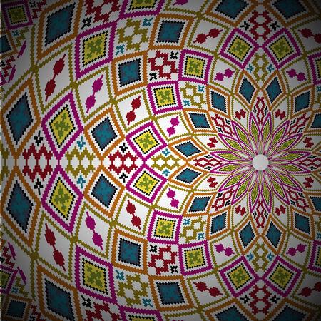 textil: ancient pattern. Vector illustration Illustration
