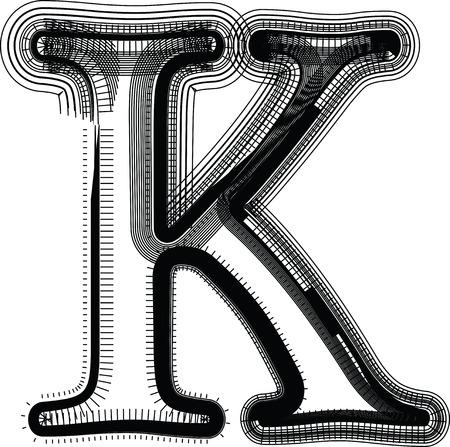 buchstabe k: Font Illustration Buchstabe K