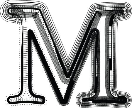 letra m: Fuente ilustraci�n letra M
