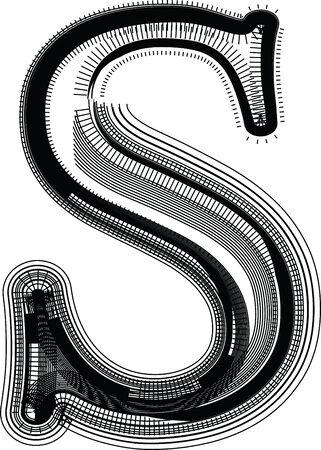 lettre s: Font illustration LETTRE S