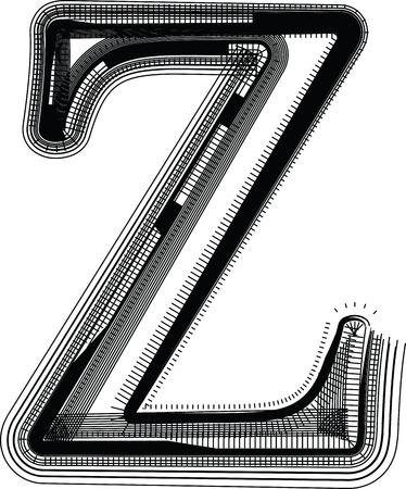 buchstabe z: Font Illustration LETTER Z Illustration