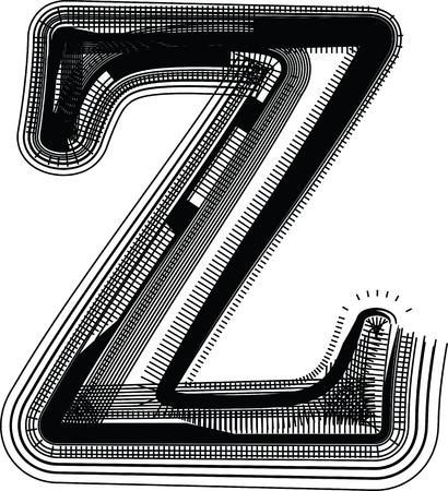 buchstabe z: Font Illustration Buchstabe Z