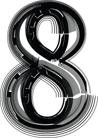 eighth: Font illustration NUMBER 8