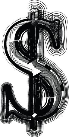 Font illustration Illustration