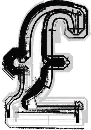 Grunge Font Illustration