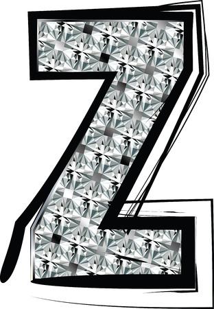buchstabe z: Diamant Font Buchstaben Z