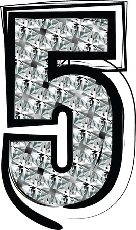 number 5: Diamond Font Number 5