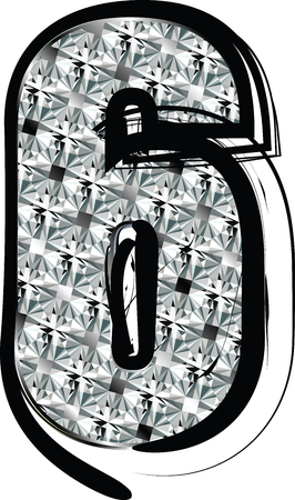 Diamond Font Number 6