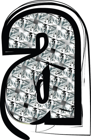 Diamond Font letter a Vector