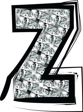 Diamond Font letter z Vector