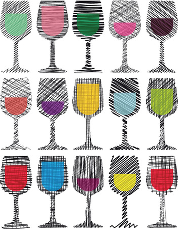 Verres à vin illustration