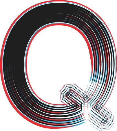 q: Font illustrazione lettera Q