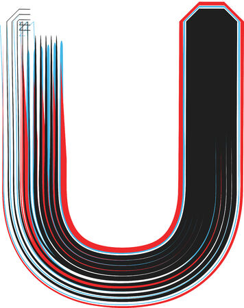 letter u: Font illustration letter U Illustration