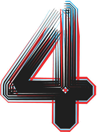 number 4: NUMERO Font illustration 4