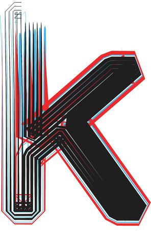 buchstabe k: Font Abbildung Buchstabe k