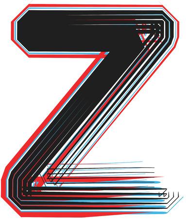 Font illustration letter z Illustration