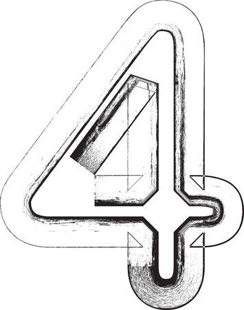 number 4: Grunge Font. Number 4
