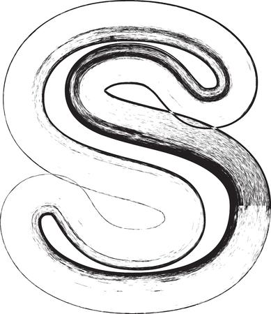 buchstabe s: Grunge Font. Buchstabe s