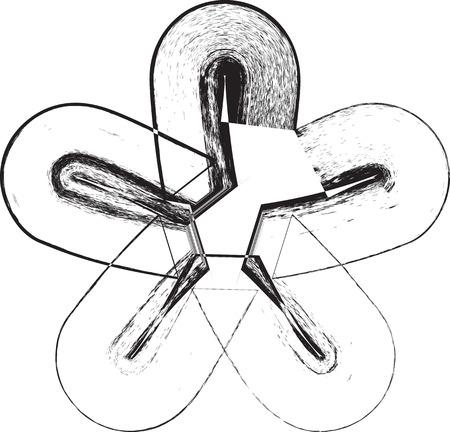 asterisk: Grunge Font Symbol