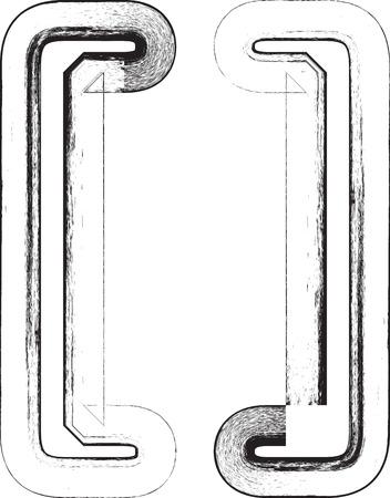 punctuation mark: Grunge Font Symbol
