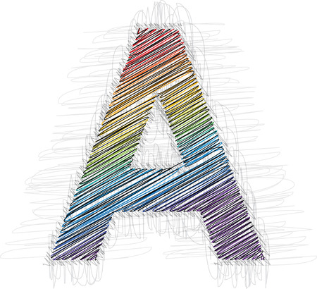 draw on: Hand draw font LETTER A