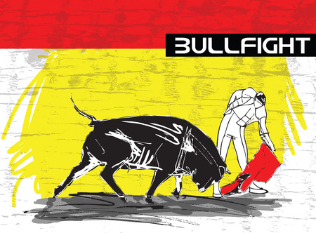 bullfight illustration Vector