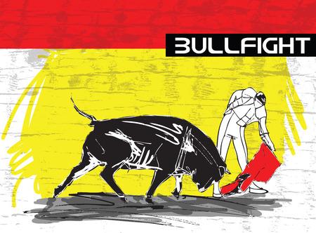 animal cruelty: bullfight illustration
