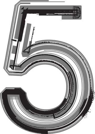 number 5: Grunge Font. Number 5
