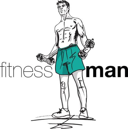 Fitness man illustratie
