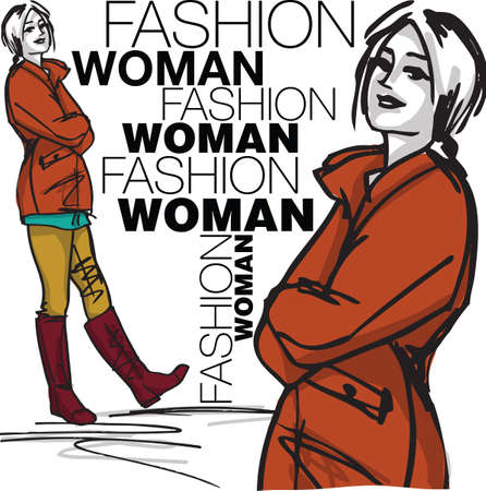 Fashion woman illustration Vector