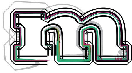 letra m: fuente Ilustraci�n Letra m Vectores