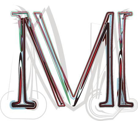 letra m: Ilustraci�n de la fuente de la letra M