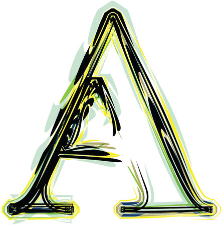 font illustration letter A Vector
