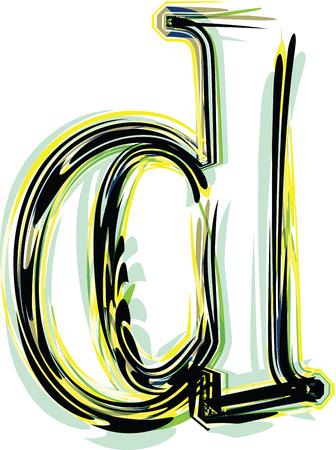 letter d: font illustration letter d Illustration