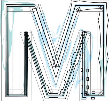 letra m: Ilustraci�n letra Fuente M