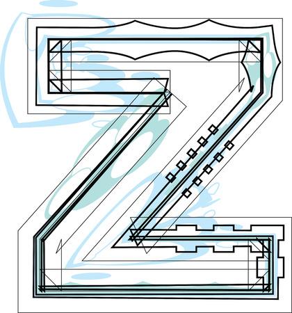 buchstabe z: Schrift Abbildung Buchstabe Z