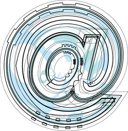 arobase: Font Symbol illustration