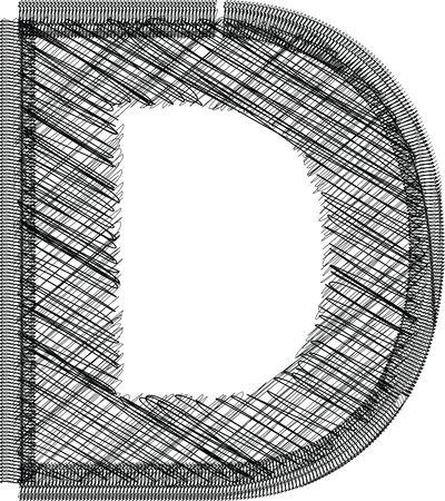 letter d: font Illustration Letter D