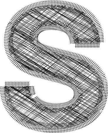 lettre s: Illustration police Lettre S