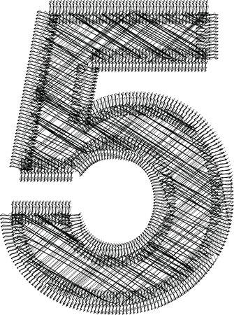 number 5: font Illustration NUMBER 5 Illustration