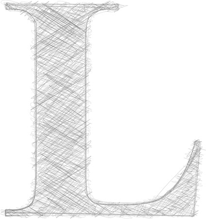 letter l: Freehand Typography Letter L